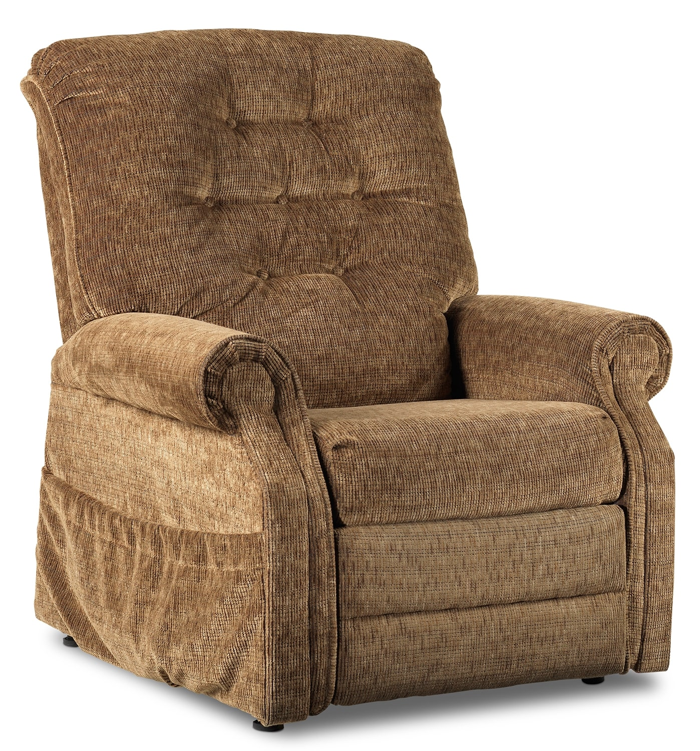 International Furniture Kitchener Boost Power Lift Recliner Light Brown Leons