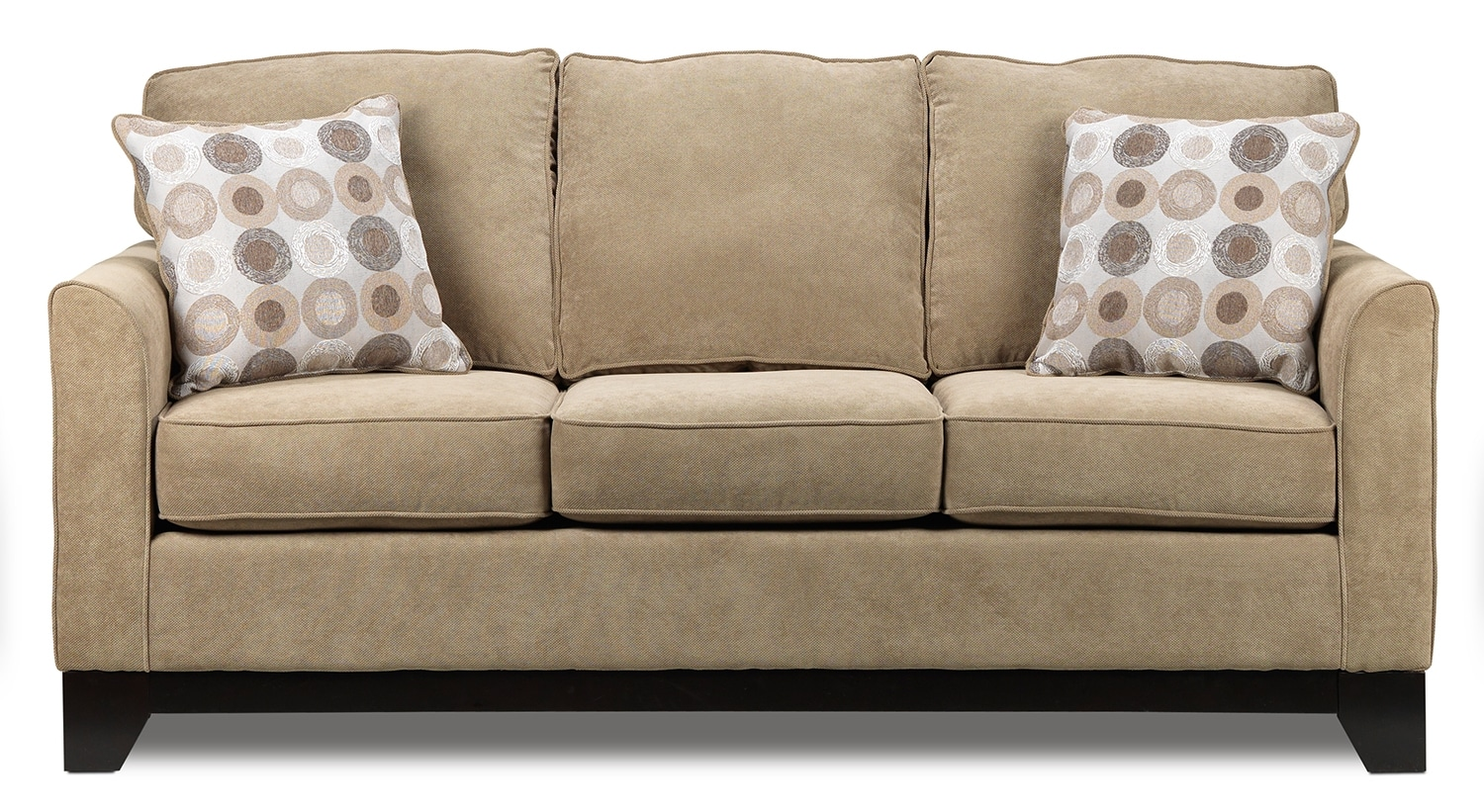 Living Room Furniture - Sand Castle Sofa - Light Brown