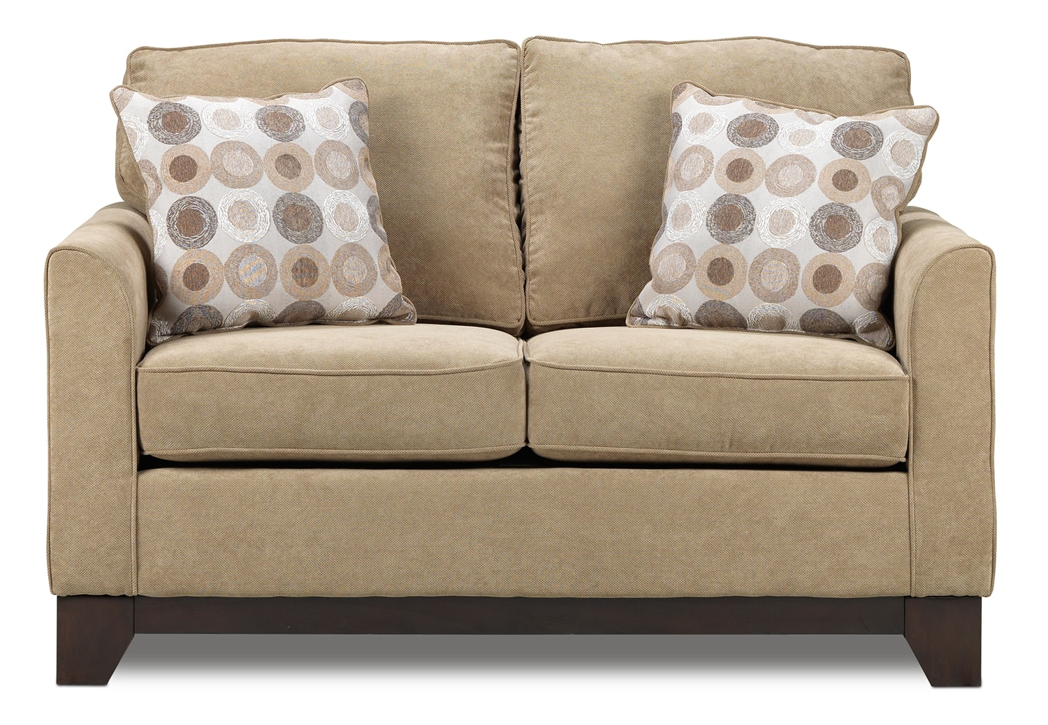 Living Room Furniture - Sand Castle Loveseat - Light Brown