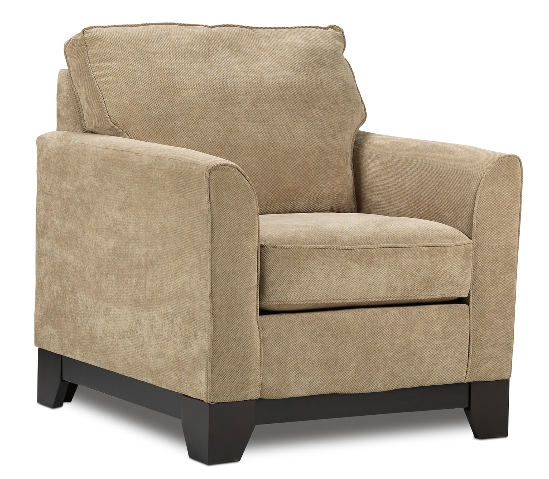 Leon S Furniture Sectional Sofas: Sand Castle Sofa - Light Brown