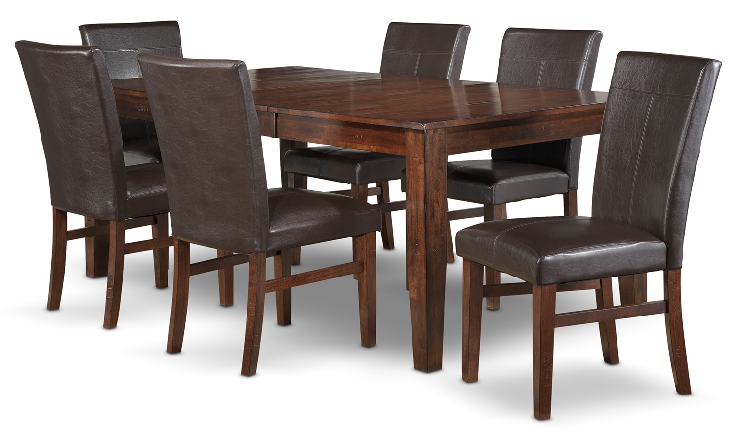 Dining Room Furniture - Kona 7-Piece Dining Room Set - Dark Oak