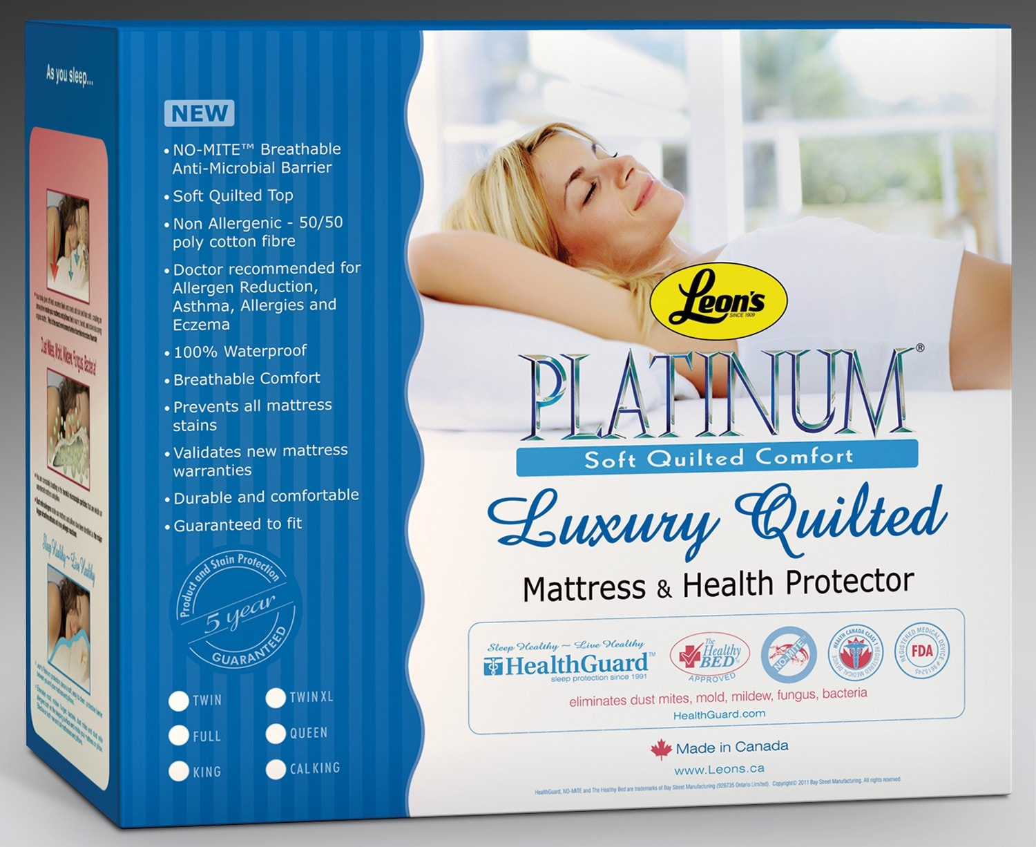 Mattresses and Bedding - Platinum Plus Twin Mattress Protector