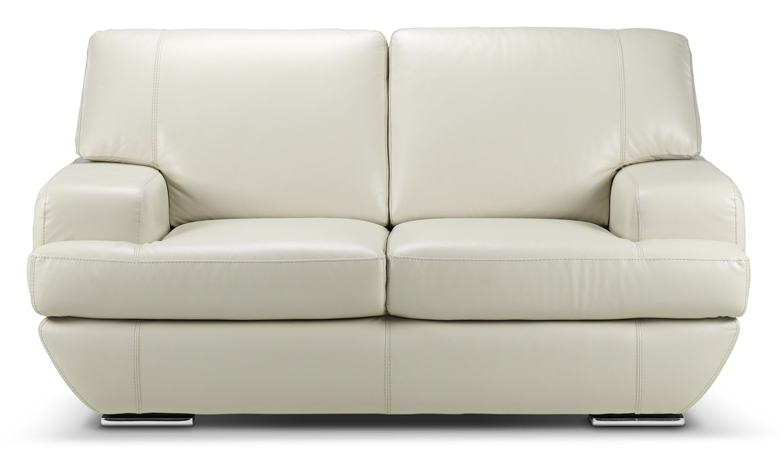 Living Room Furniture - Miranda Loveseat - Off-White