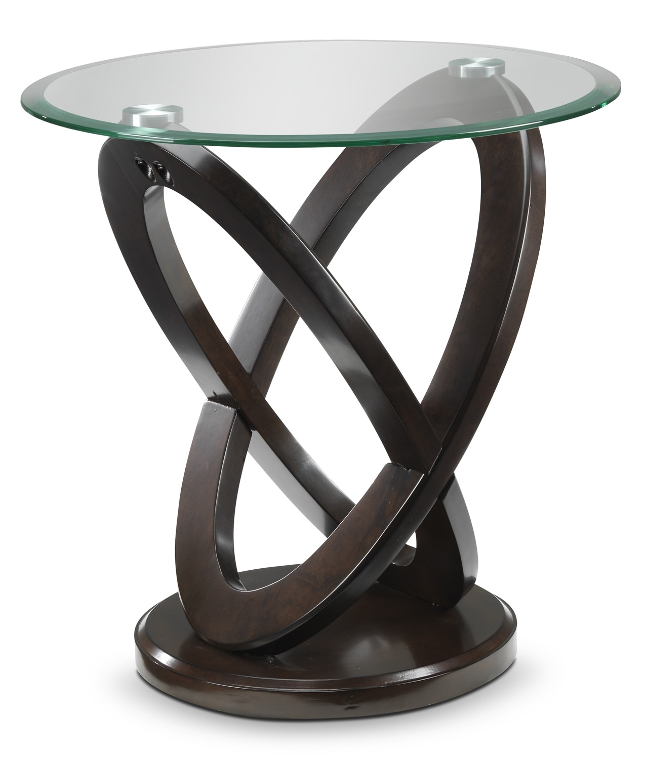 Accent and Occasional Furniture - Atomic End Table - Brown Cherry