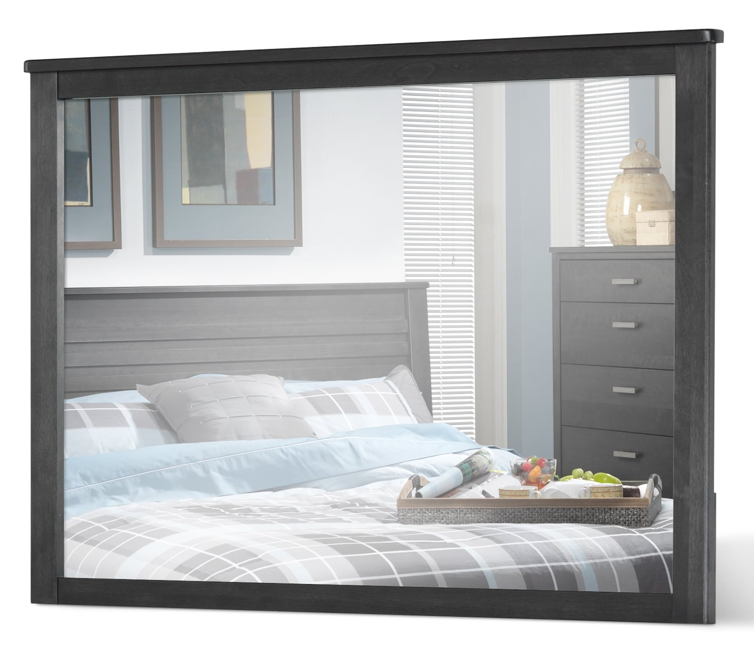 Bedroom Furniture - Yorkville Mirror - Charcoal