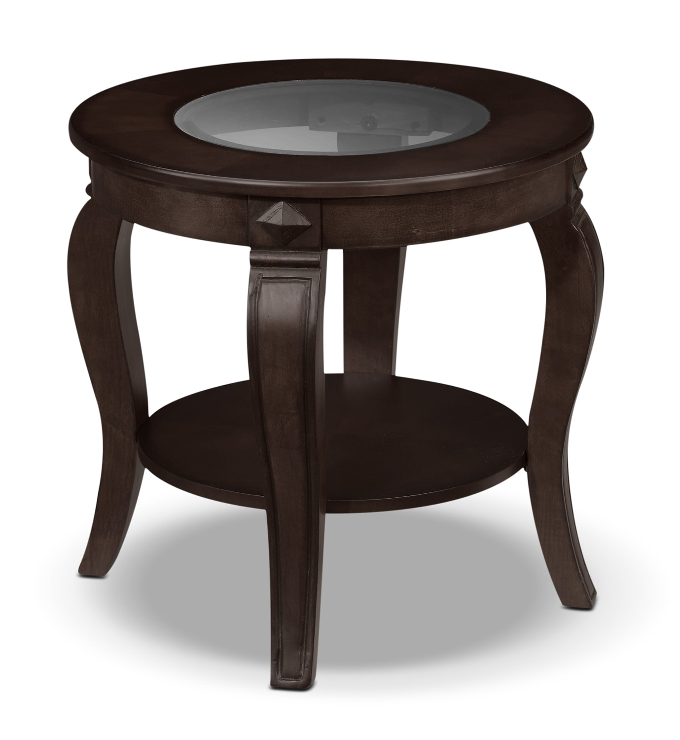 Madeira End Table - Chocolate