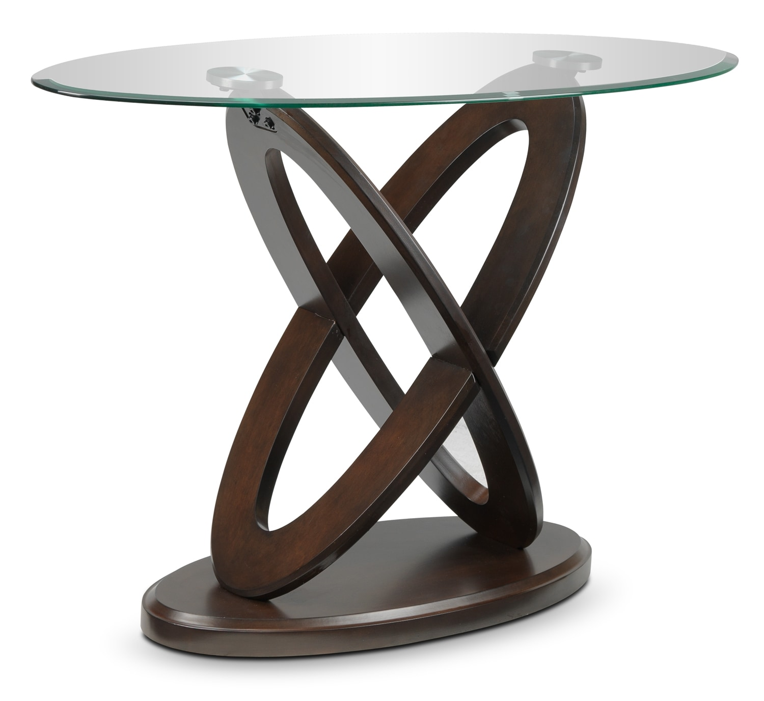 Atomic Table console - brun cerisier