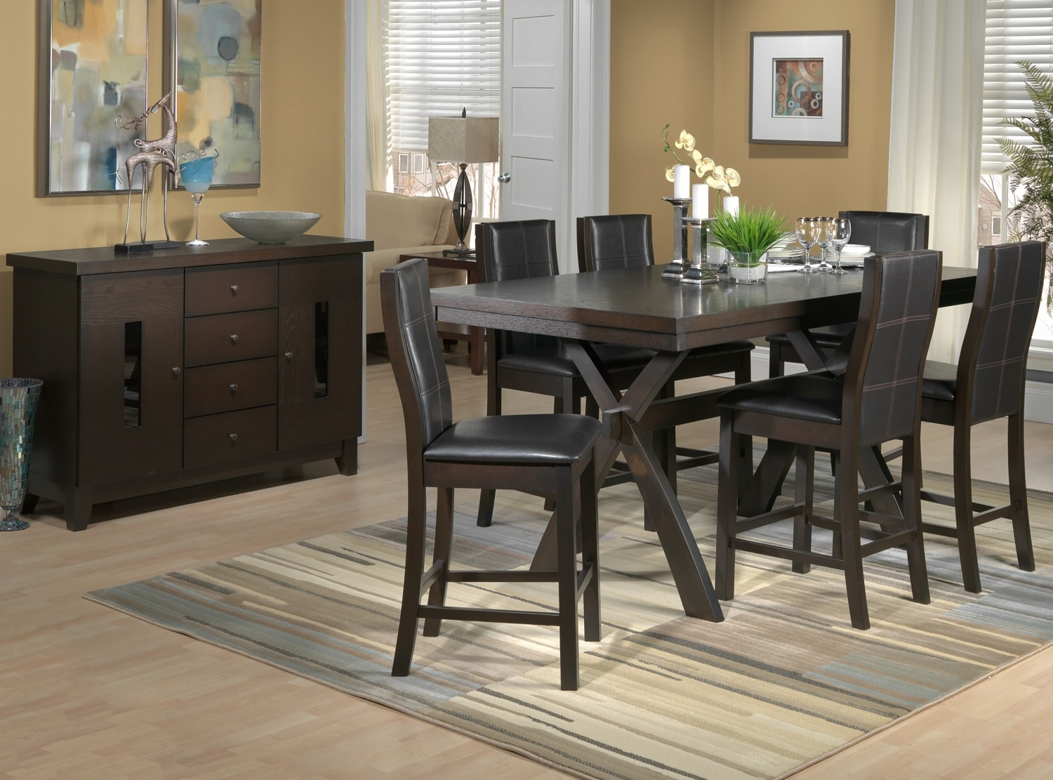 Grethell 8 Pc. Dining Room Package - Pub Height