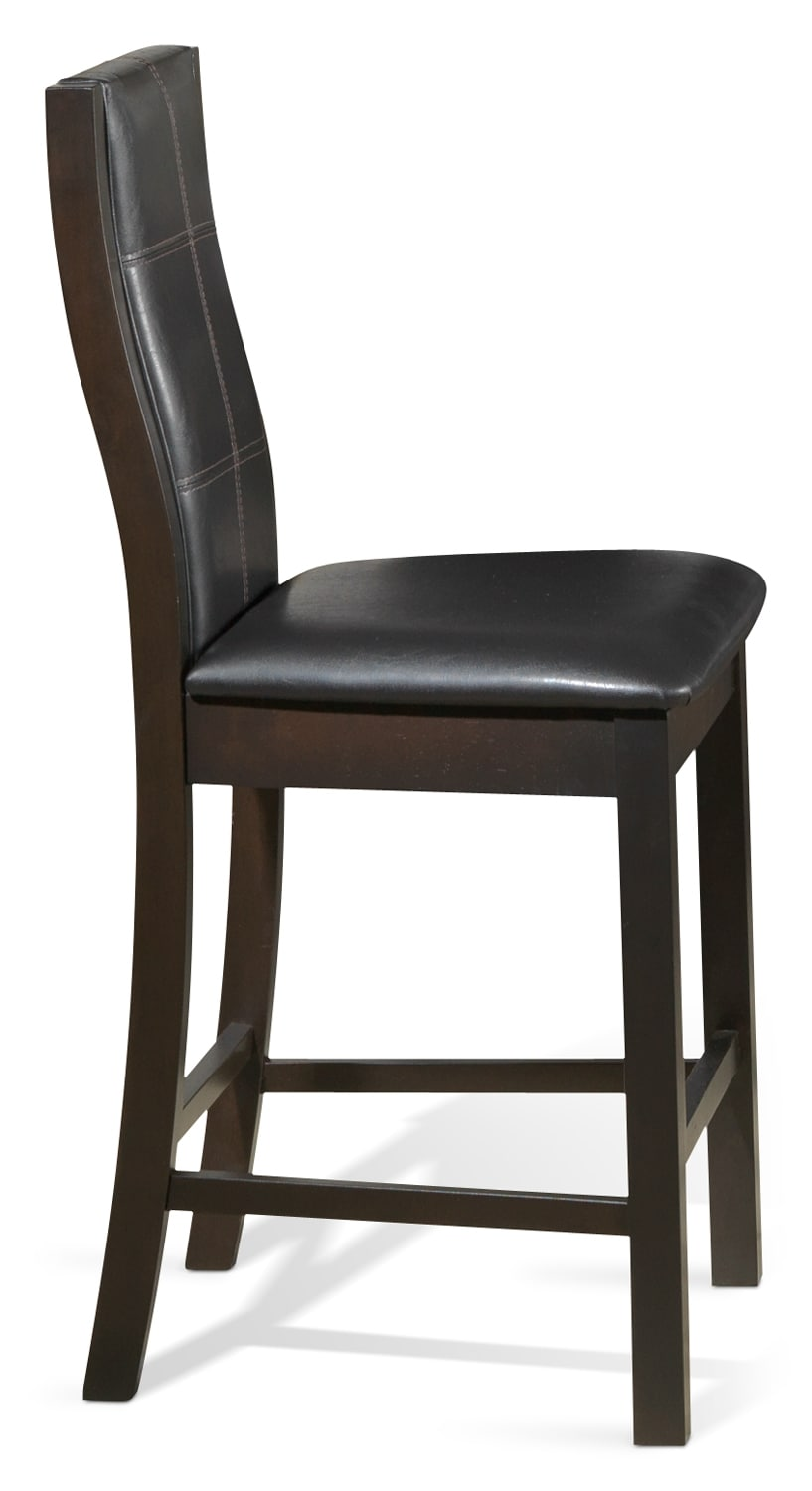 Dining Room Furniture - Grethell Pub-Height Chair - Espresso