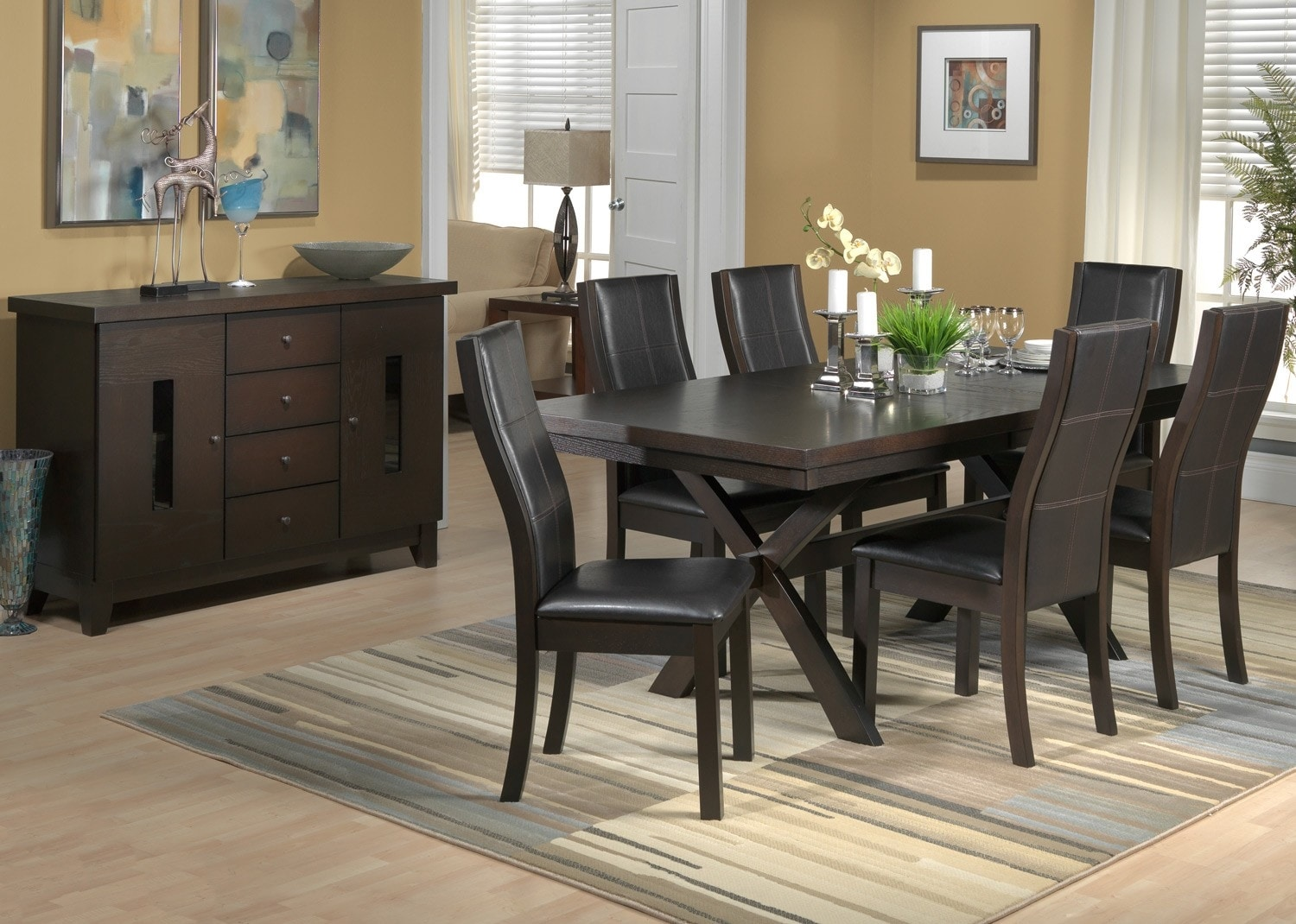 Grethell 8 Pc Dining Room Package - Espresso