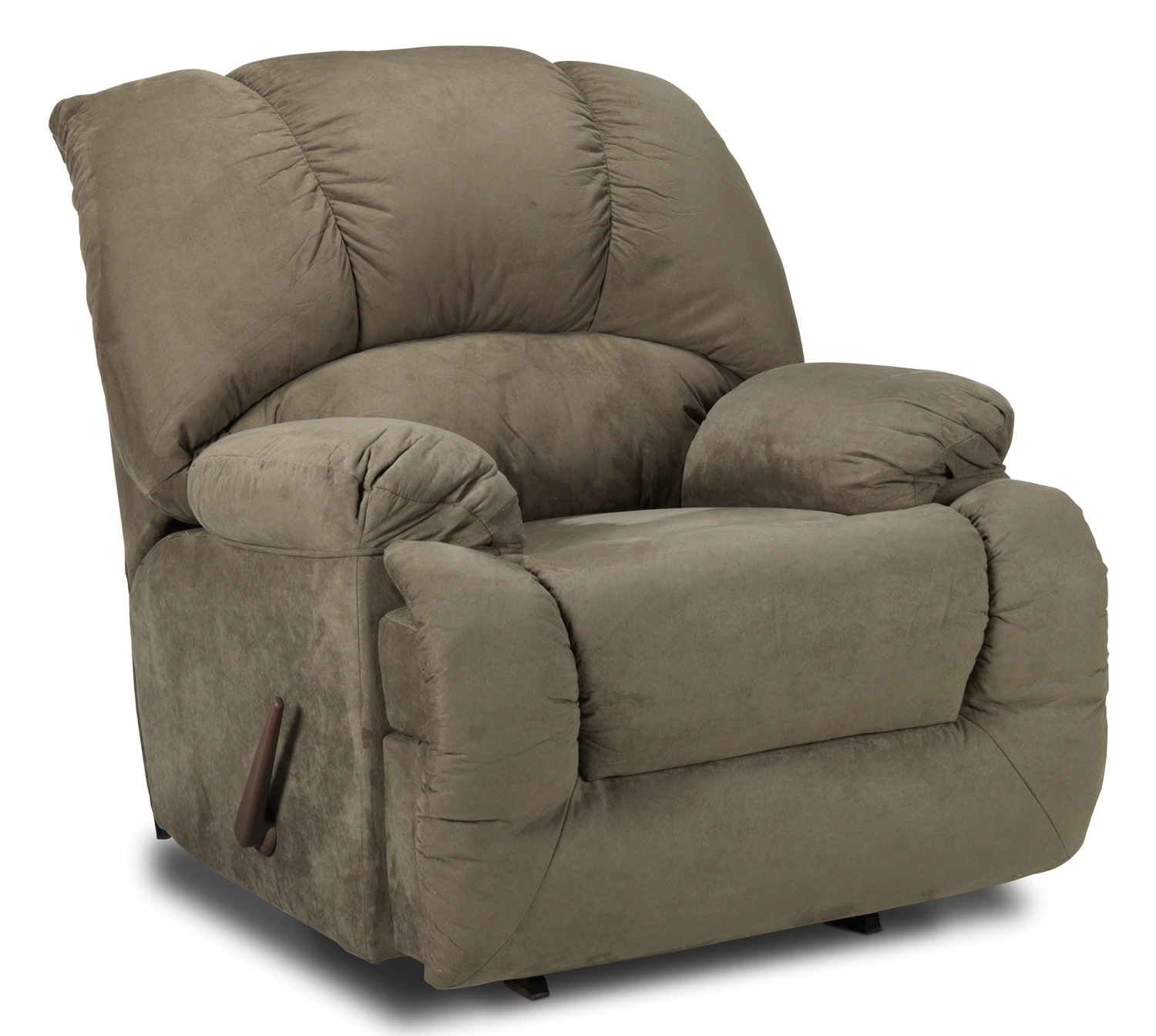 Living Room Furniture - Adrienne Rocker Recliner - Olive