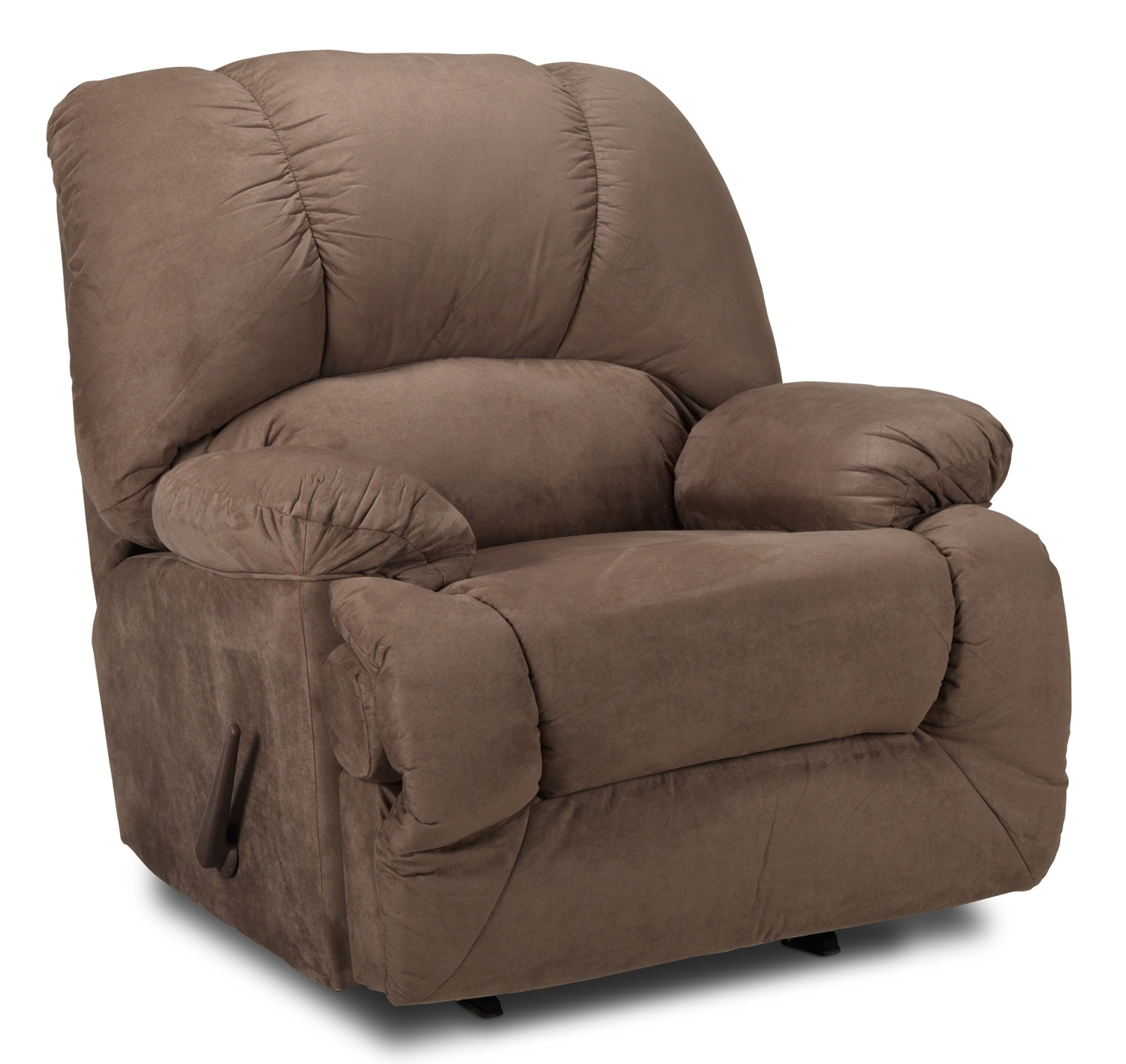 Living Room Furniture - Adrienne Rocker Recliner - Chocolate