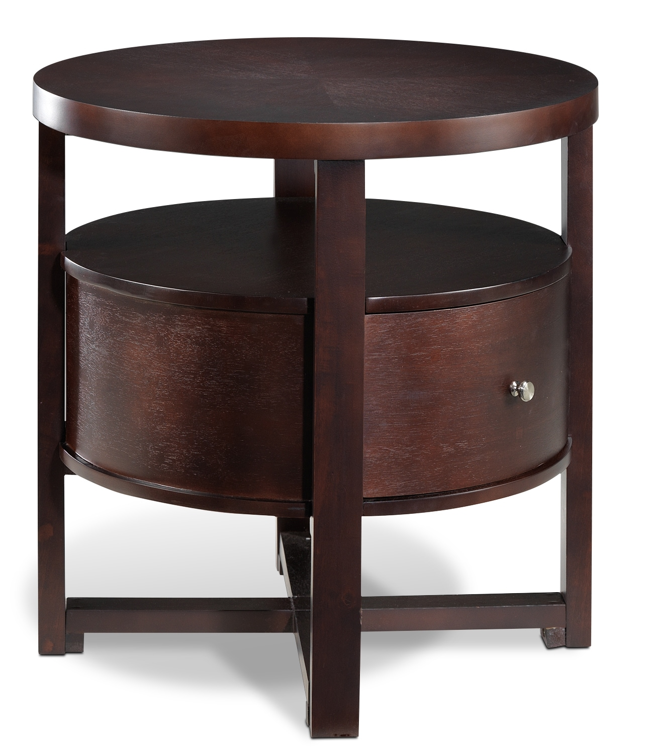 Compass End Table - Espresso