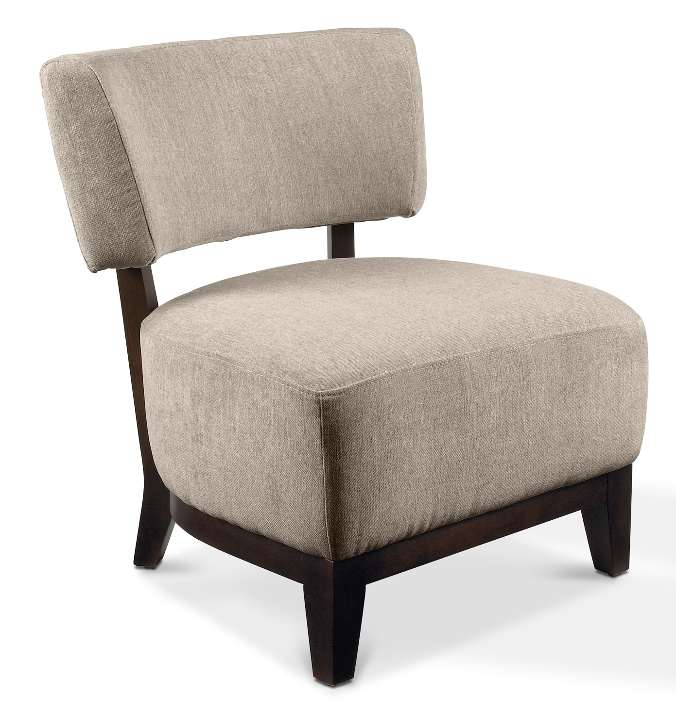 Alfie accent chair beige leon 39 s for Living room accent chairs