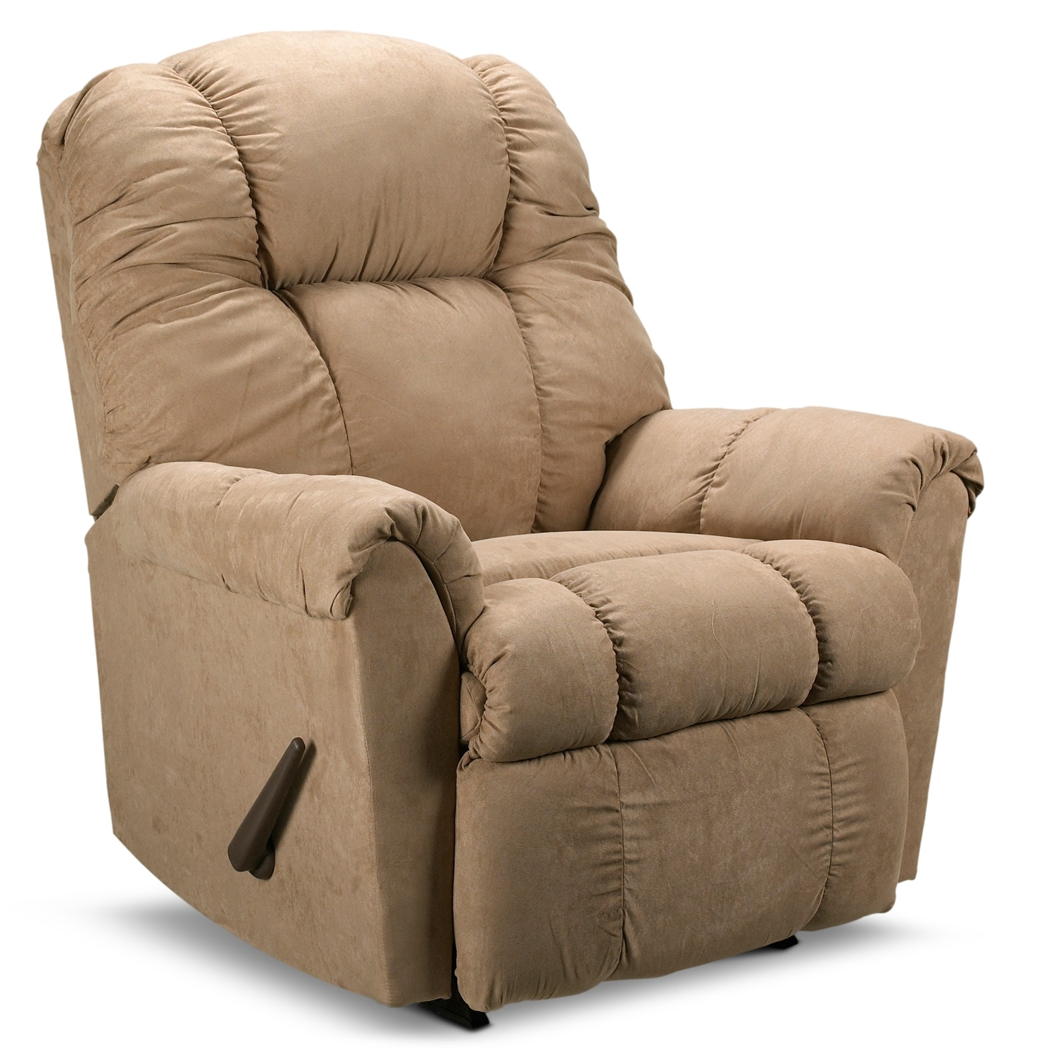 Living Room Furniture - Benson Rocker Recliner - Beige
