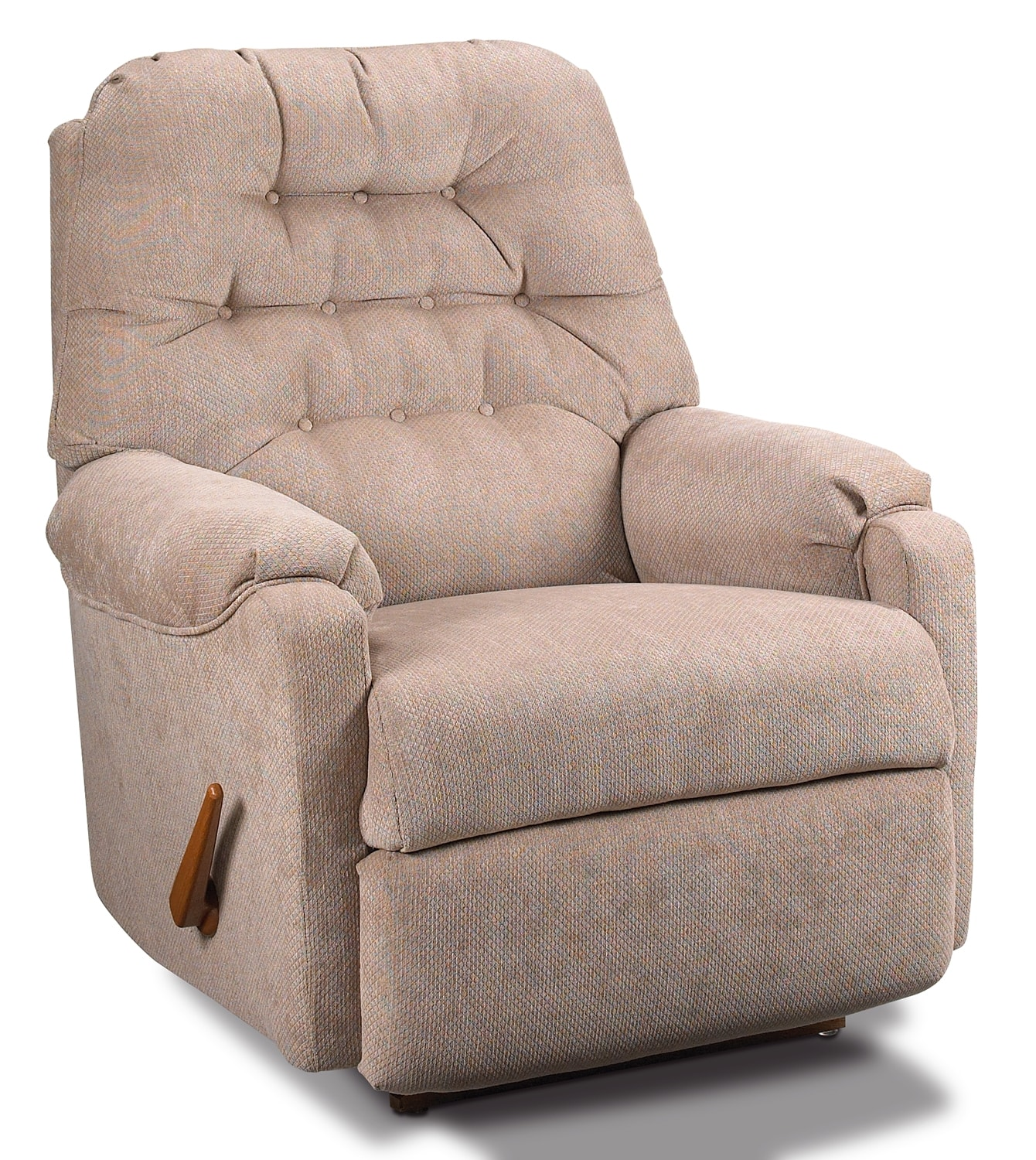 Living Room Furniture - Martha Rocker Recliner - Putty