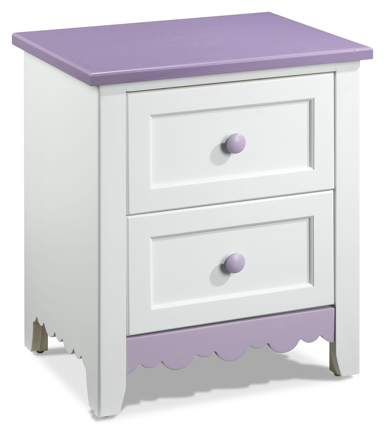 Kids Furniture - Sweetdreams Night Table - White and Lavender