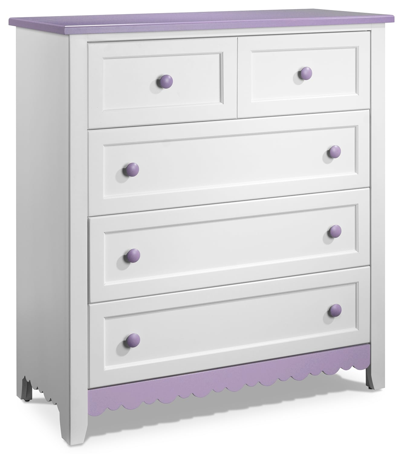 Kids Furniture - Sweetdreams Chest - White and Lavender