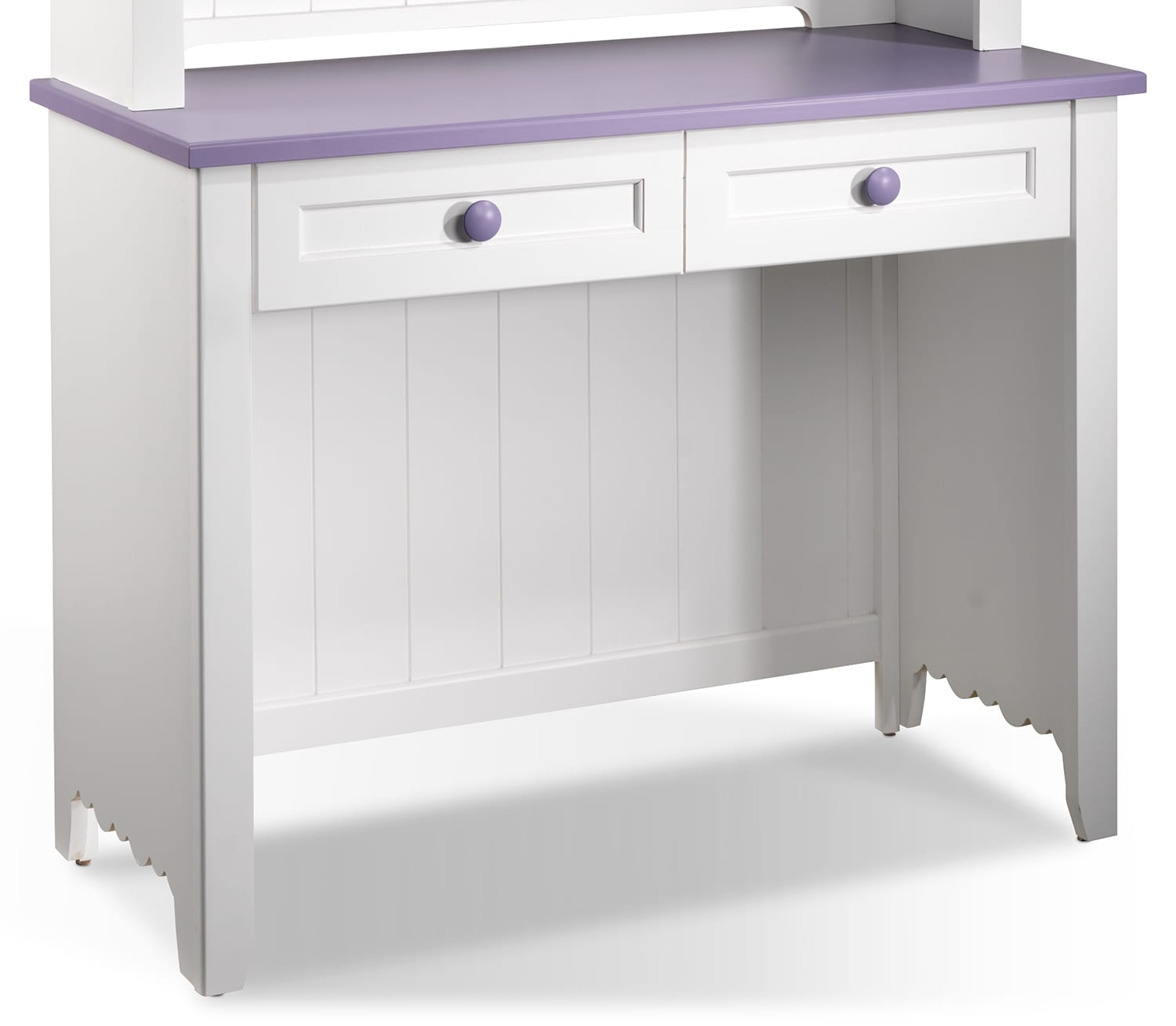 Kids Furniture - Sweetdreams Desk - White and Lavender