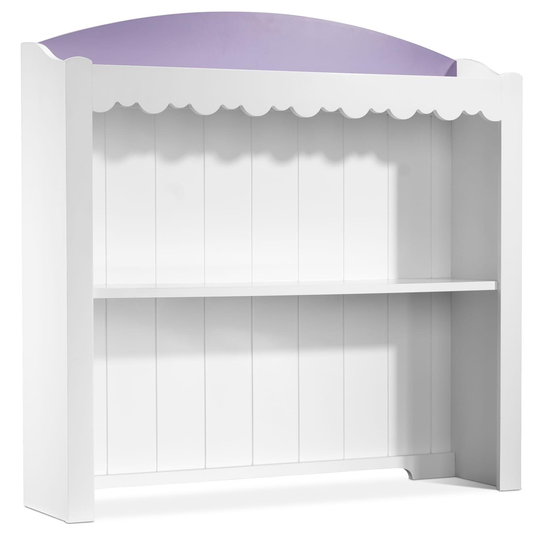 Kids Furniture - Sweetdreams Desk Hutch - White, Lavender