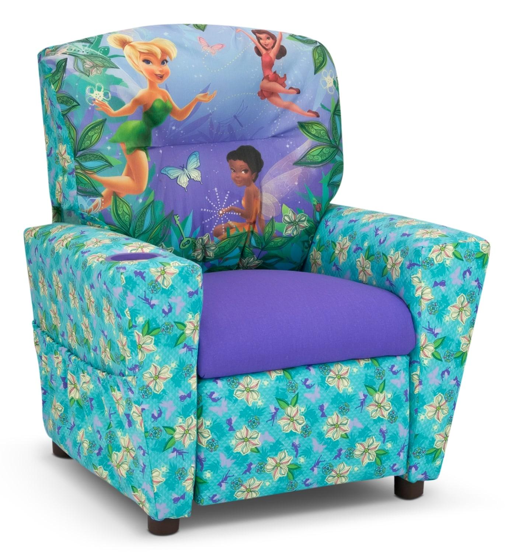 Living Room Furniture - Parade Kids' Recliner - Aqua