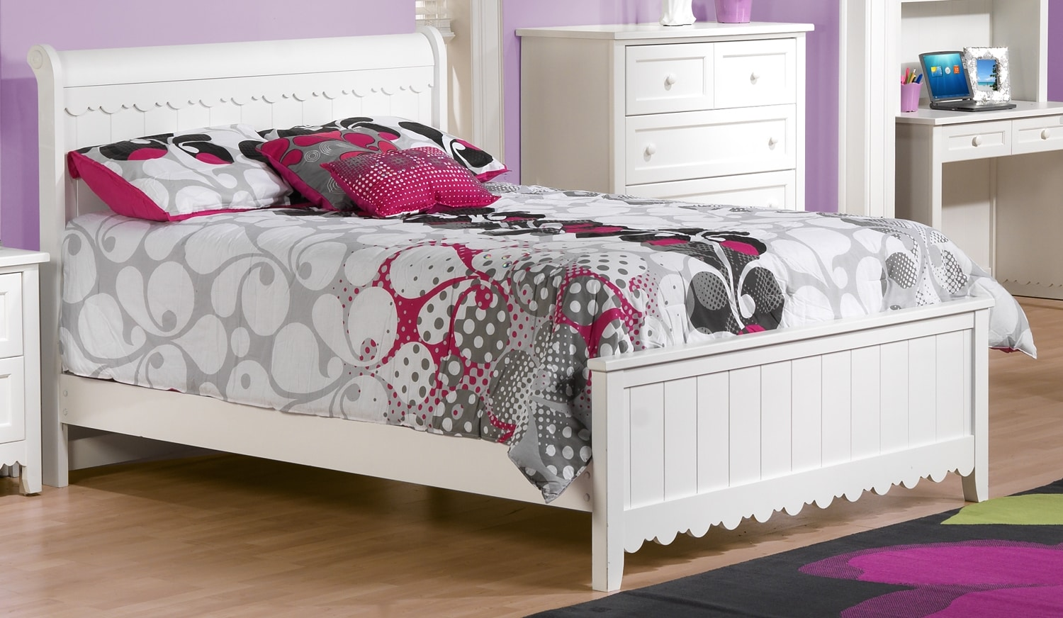 Powell White Twin Bedroom In A Box: Sweetdreams Twin Bed - White