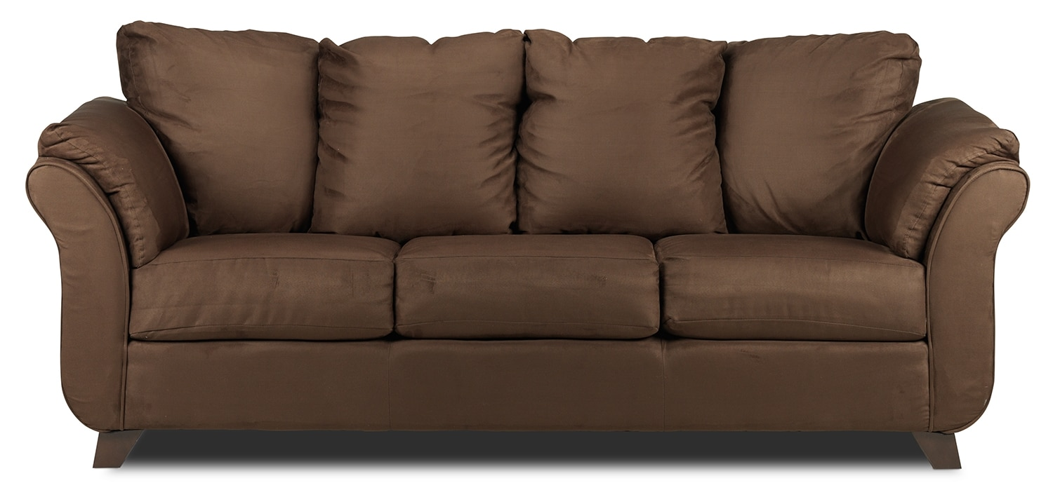 Living Room Furniture - Collier Sofa - Chocolate