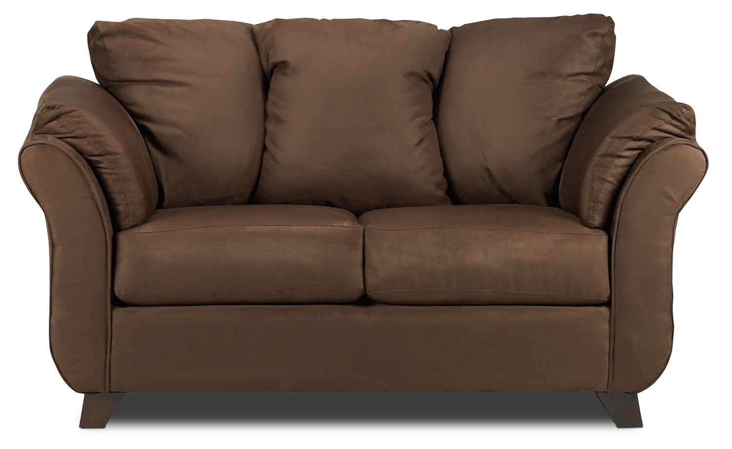 Living Room Furniture - Collier Loveseat - Chocolate