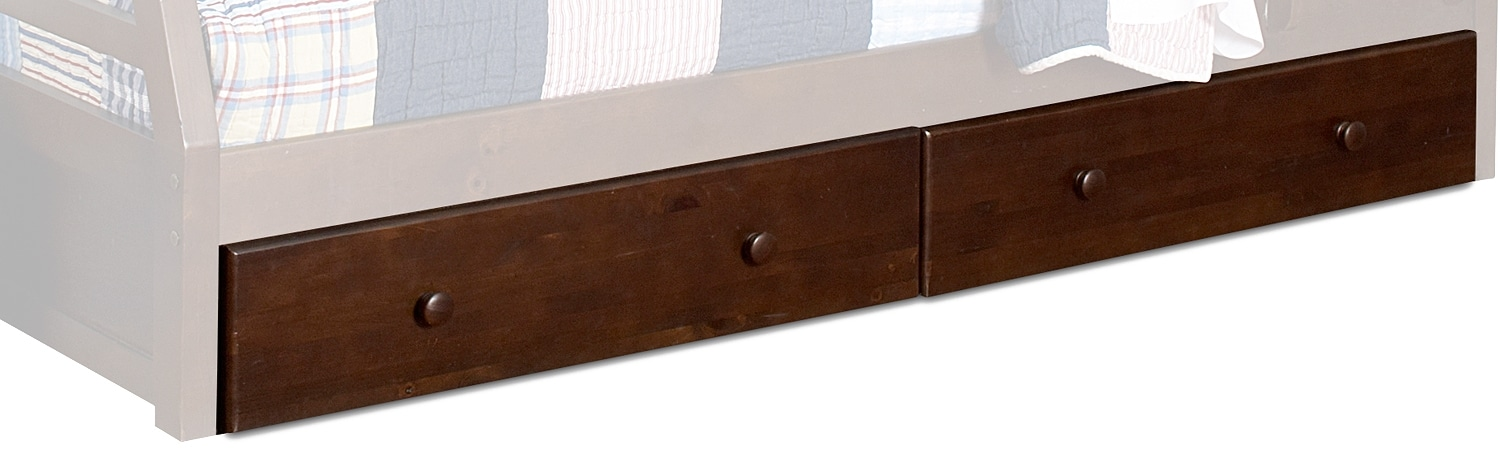 Kids Furniture - Starship Bunk Bed Drawers - Chocolate Cherry