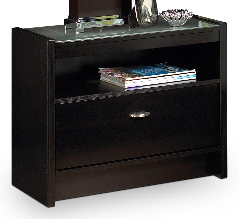 Bedroom Furniture - Vodara Night Table - Dark Espresso