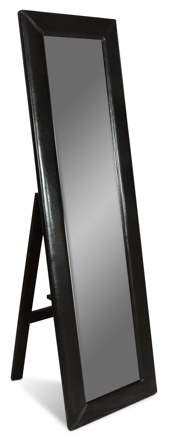 Bedroom Furniture - Visage Standing Floor Mirror - Dark Chocolate