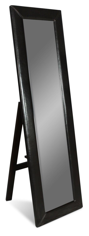 Accent and Occasional Furniture - Visage Standing Floor Mirror - Dark Chocolate