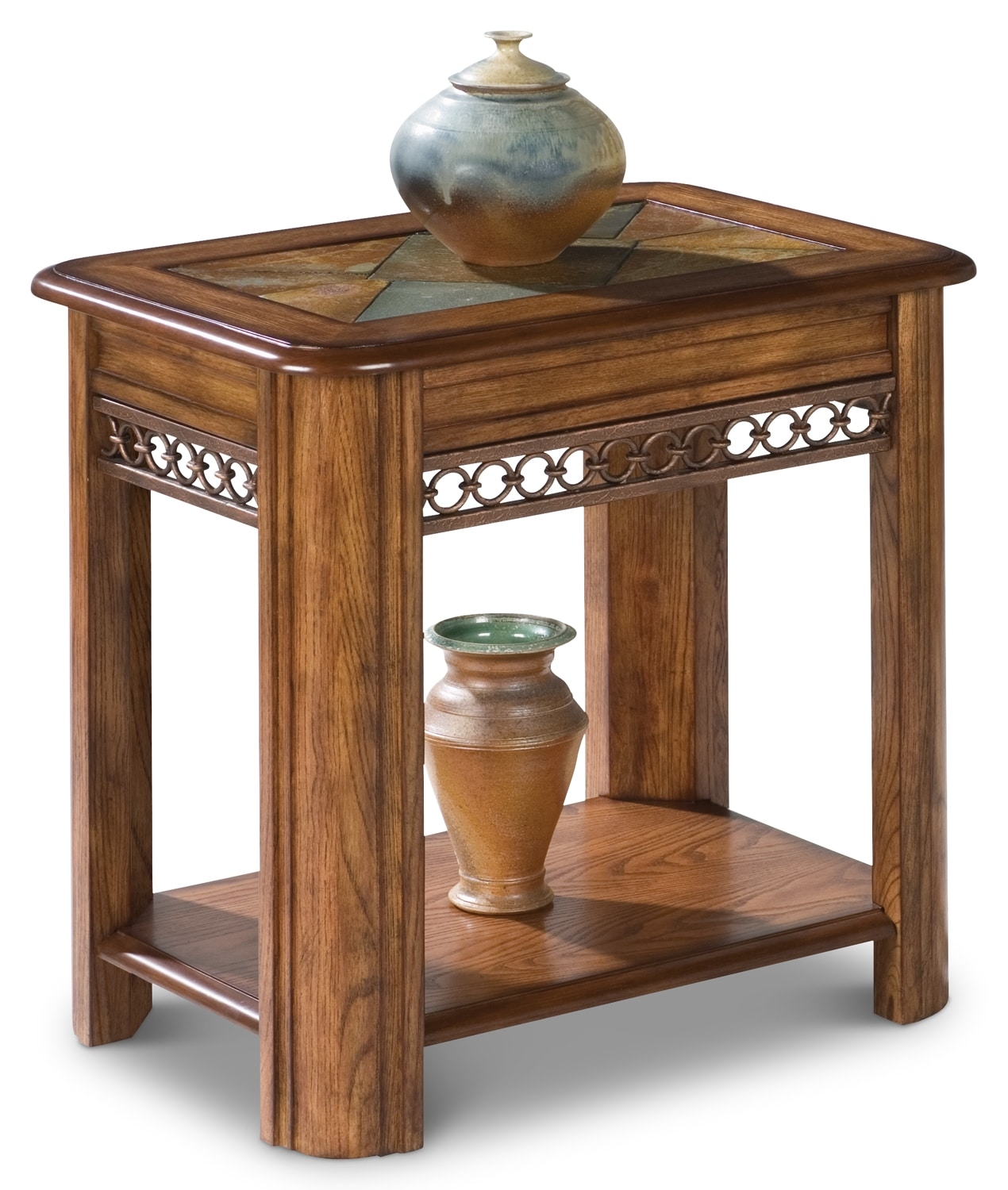 Accent and Occasional Furniture - Madison End Table - Nutmeg