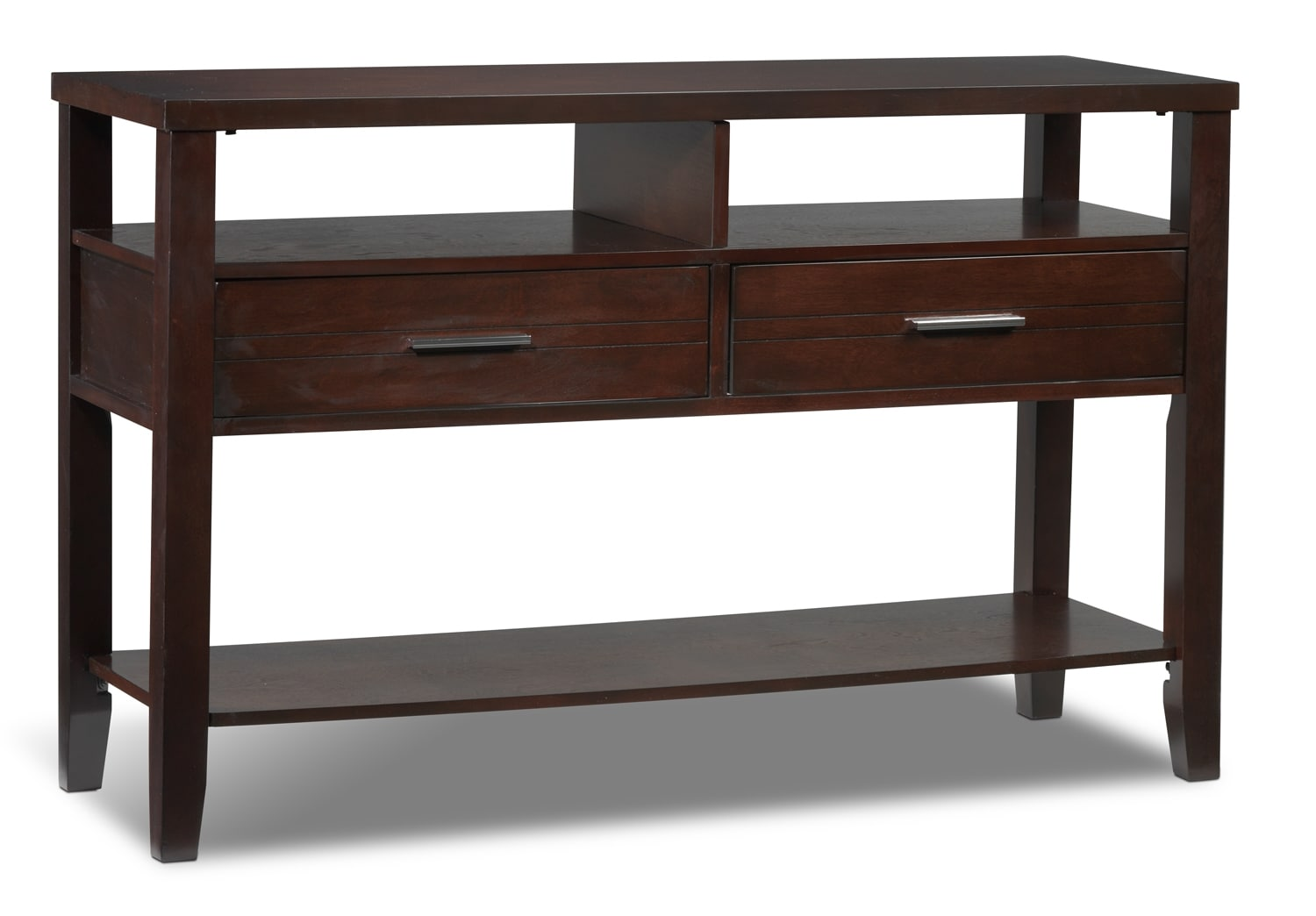 Gloria sofa table espresso leon 39 s for Table furniture