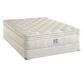 [Supreme Series Plush Euro Top King Mattress/Boxspring Set]