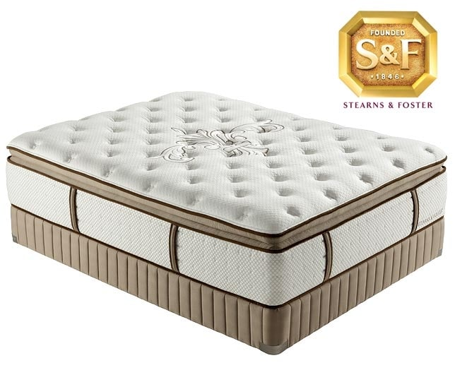 "[Luxury Estate ""N"" Series Luxury Plush Pillow Top Queen Mattress/Boxspring Set]"