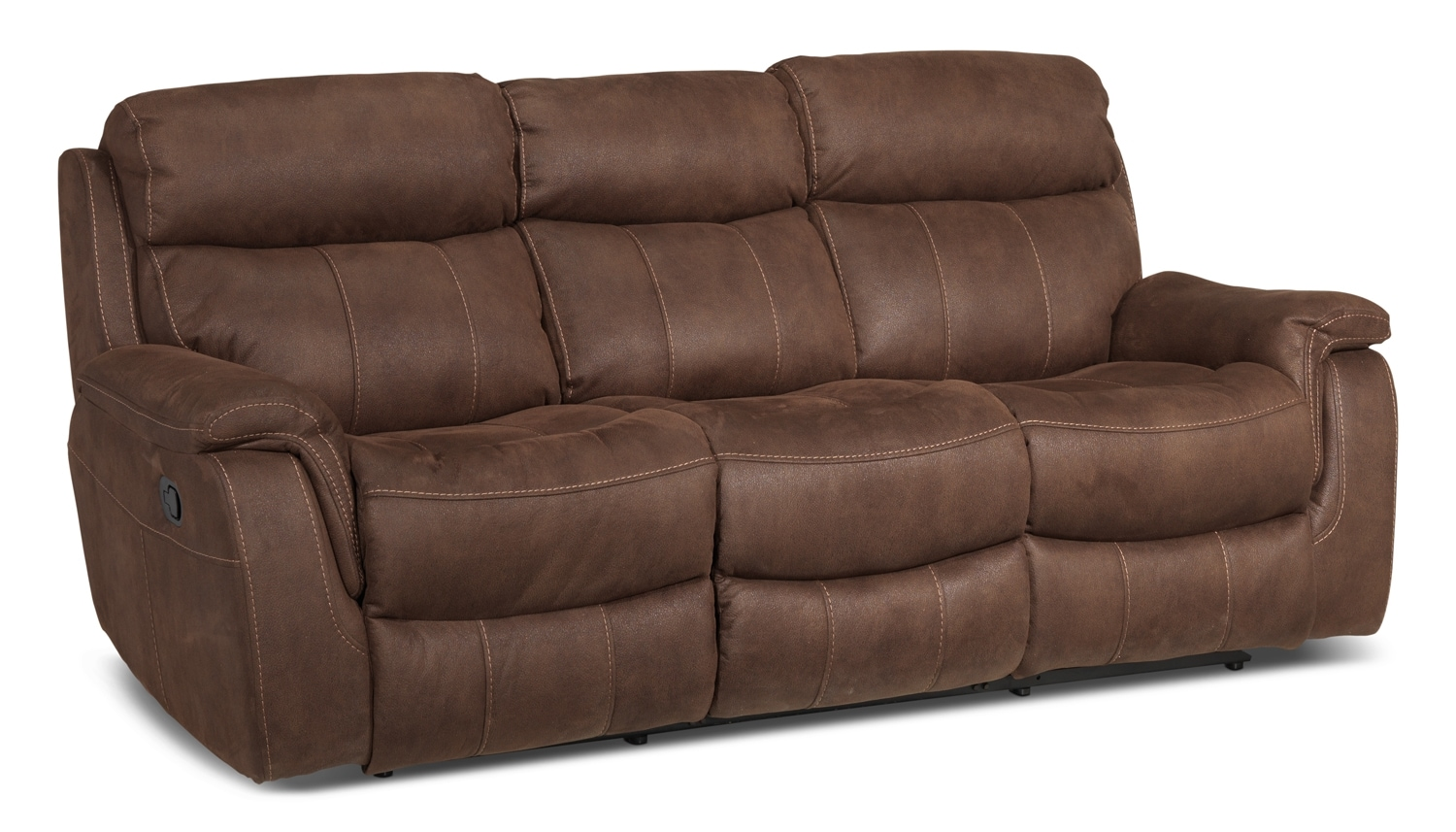 Morrow reclining sofa saddle brown leon 39 s for Divan furniture