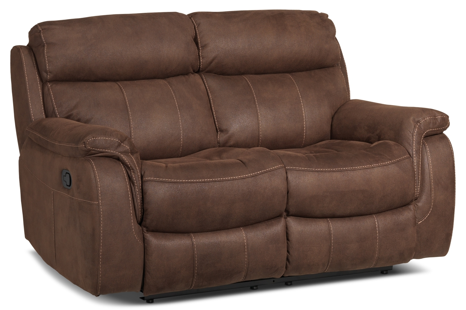 Living Room Furniture - Morrow Reclining Loveseat - Saddle Brown