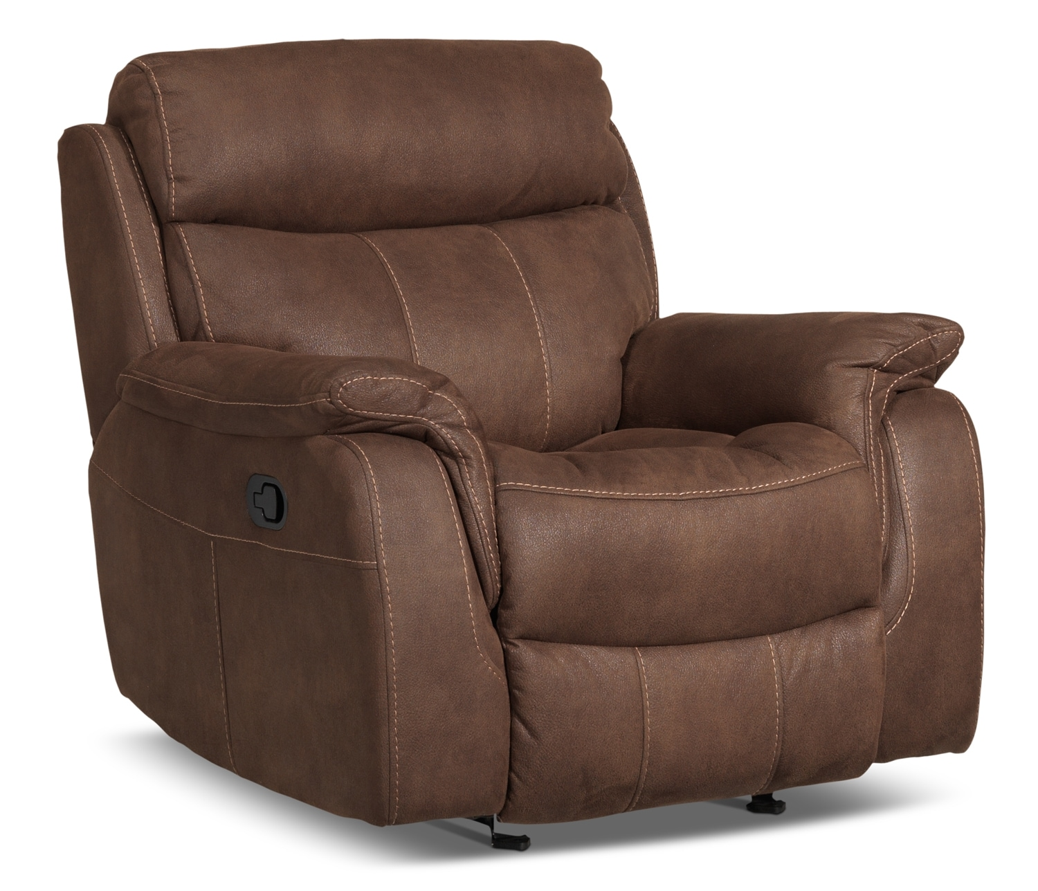 Leon S Furniture Sectional Sofas: Morrow Reclining Sofa - Saddle Brown