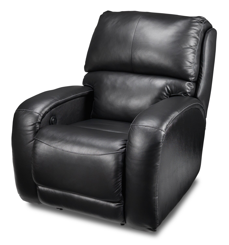 Living Room Furniture - Fabian Power Recliner - Black