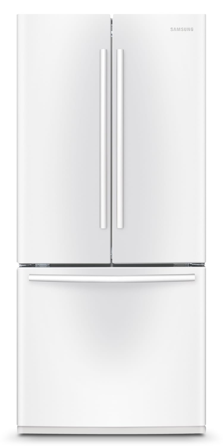 Refrigerators and Freezers - Samsung White French Door Refrigerator (21.6 Cu. Ft.) - RF220NCTAWW