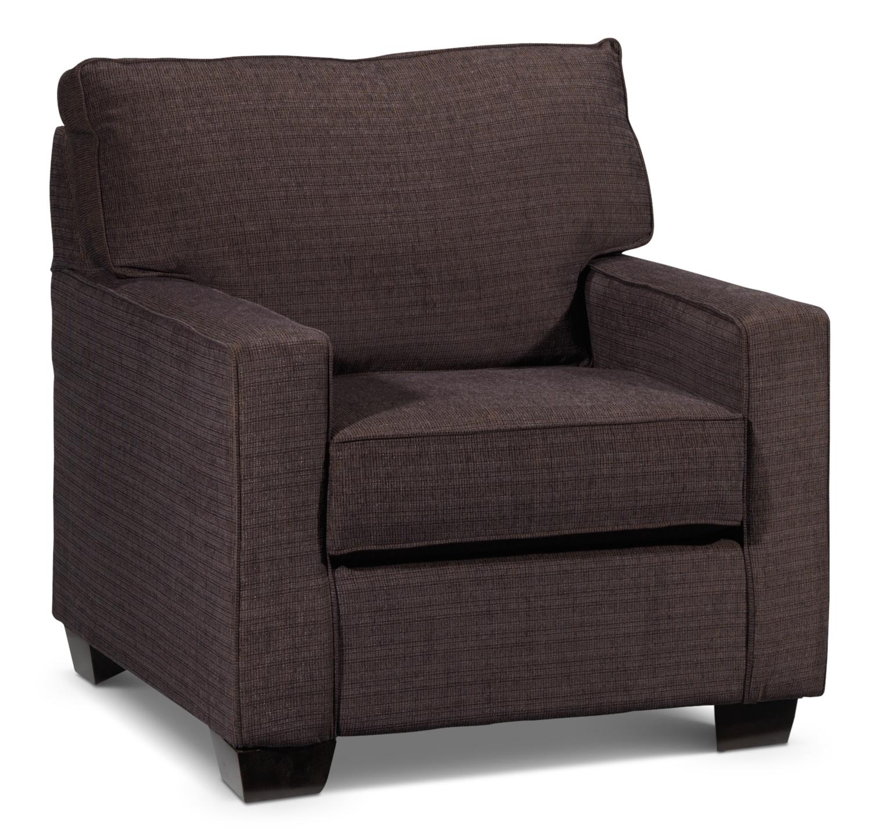 Living Room Furniture - Perkin Chair - Deep Brown