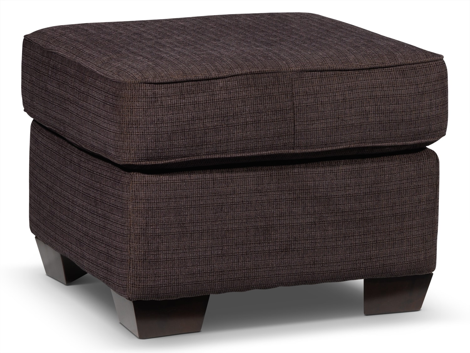 Living Room Furniture - Perkin Ottoman - Deep Brown