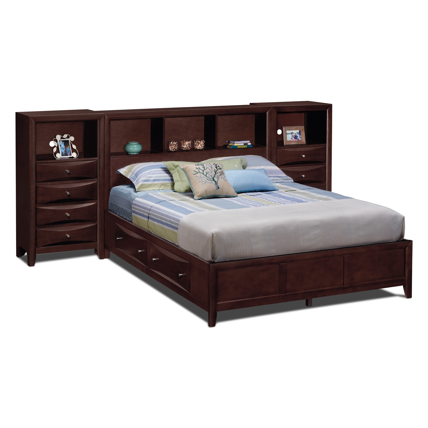 clarion bedroom queen wall bed with piers value city