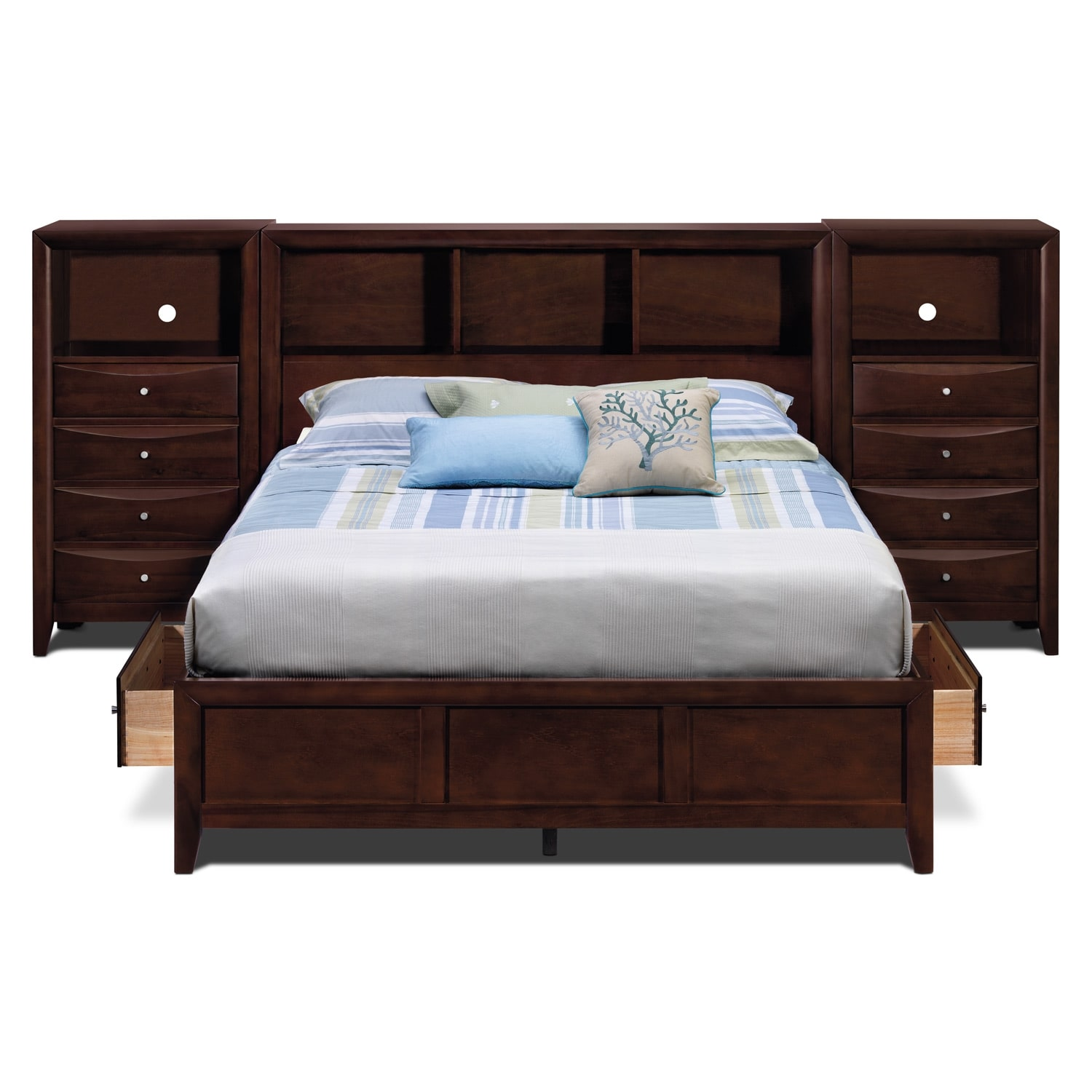 Clarion Bedroom Queen Wall Bed With Piers Value City Furniture