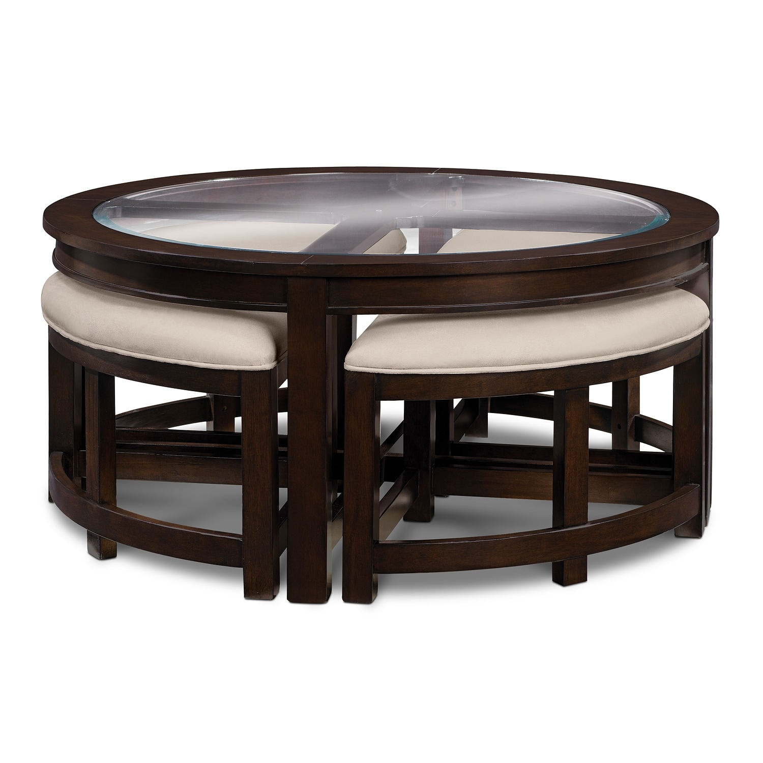 four corners occasional tables cocktail table w 4 benches