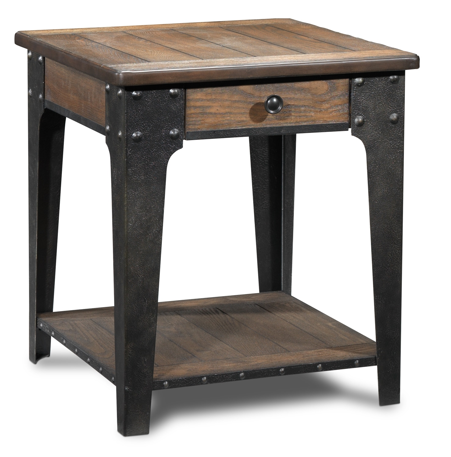 Accent and Occasional Furniture - Lakehurst End Table - Aged Oak