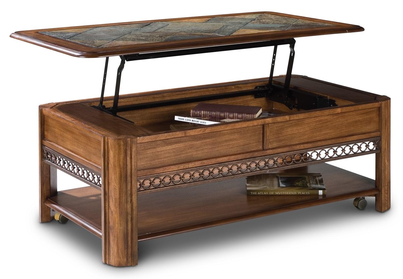 madison lift-top coffee table - nutmeg | leon's