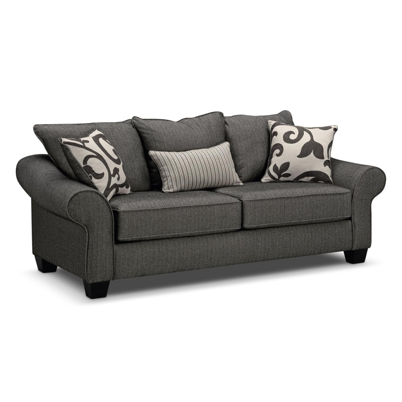 Living Room Furniture - Colette Gray Sofa