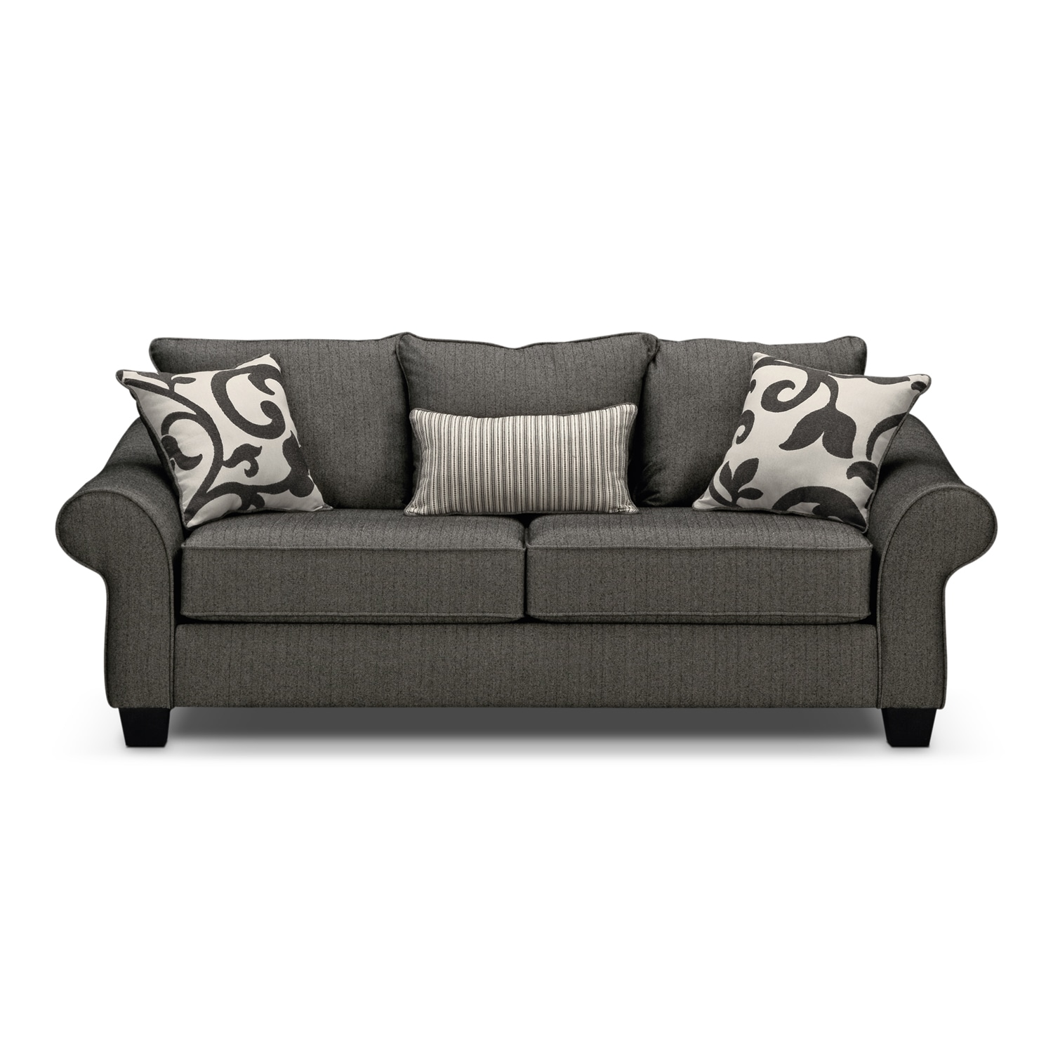 colette gray full memory foam sleeper sofa value city furniture